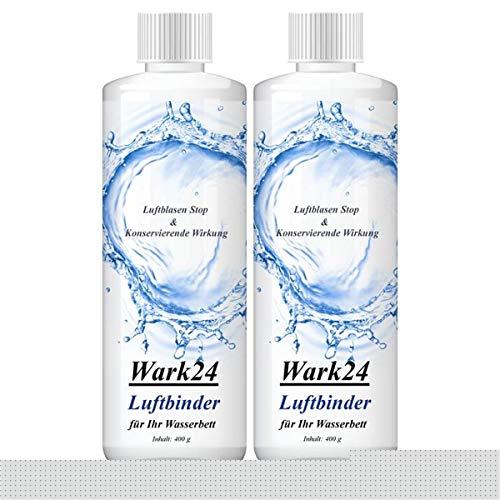 Wark24 Luftbinder Bubble Stop 400g - Luftblasen Stop für Wasserbettmatratzen - Konservierende Wirkung - Luftbindung in Wasserbetten (2er Pack)