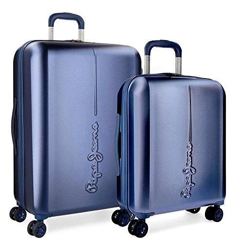 Pepe Jeans 5418963 Cambridge Juego de maletas, 115 litros, 70 cm, Azul