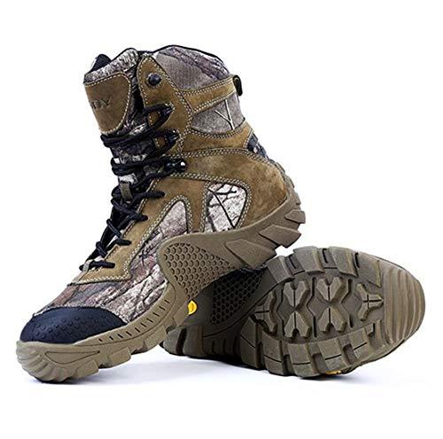 QHGao wandelschoenen, camouflage, outdoor, veiligheidsschoenen voor het werk, militaire schoenen, wandelschoenen, waterdicht