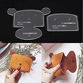NW Coin Purse Acrylic Template Leather Pattern Acrylic Leather Pattern Leather Templates for Wallet