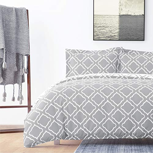 Bedsure Bettbezug Bett 150/135cm Grau - F...