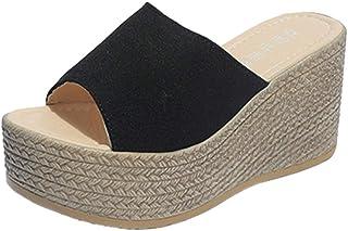 JOJONUNU Women Wedge Heel Mules Sandals