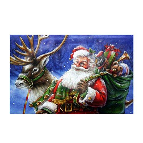 Gemini Mall® Père Noël DIY 5d Diamant de Strass Collez-le Broderie Peinture kit de point de croix de Noël Home Decor (Santa Claus # 3)