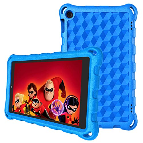 All-New 7 inch Tablet Case (Compatible with 9th/ 7th/ 5th Generation) - Auorld Light Weight Kids Shock Proof Cover for 7 inch Tablet-Blue