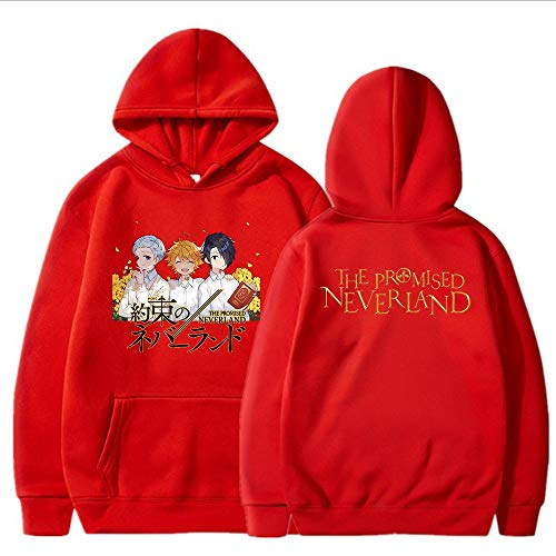 Li Largo Promise Neverland Hoodie Winter Woman Warm Ropa de cálido Anime Lámina con Capucha Casual Casual Street Wear Unisex (Color : 5, Size : XX-Large)