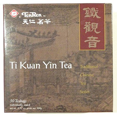 TenRen Ti Kuan Yin Oolong Tea (50 tea bags, individually sealed)