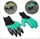 MosQuick® -1 Pair Rubber Garden Gloves for Digging, Planting, Garden Work with 4