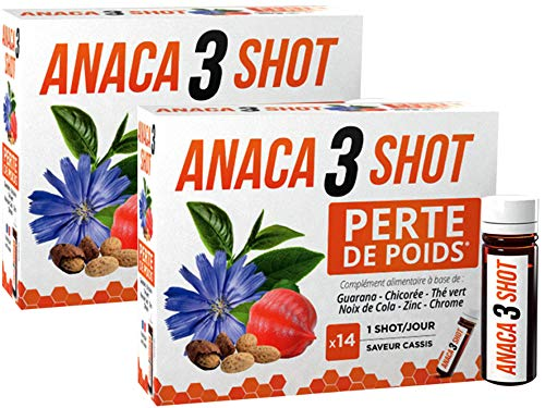 Anaca 3 Shot Perte de Poids 14 Shots lot de 2 boîtes