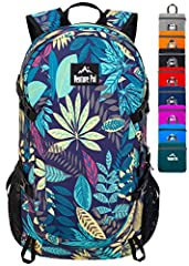 【Upgraded Wet Pocket Design】Venture Pal backpack stands out with more humane design for easy and convenient use. One waterproof wet pocket is added to the main compartment, a zipper on the back of this backpack which led to the internal wet pocket, t...
