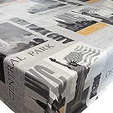 DecoHomeTextil Wachstuch Wachstischdecke Tischdecke Gartentischdecke New York Central Park & Länge wählbar 80 x 180 cm Eckig abwaschbar
