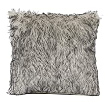 Funda de almohada decorativa de piel de lujo Funda de almohada Funda de almohada de cama de hotel de hotel Sofá (Color : Light Grey, Size : 45x45cm)