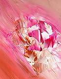 Original Acryl Gemälde,Pink, Rot, Kupfer,Abstrakt