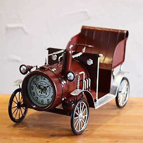 -lamp Classic Car Model tafel bureau Metal r Time Clock alarm clock (Color : A)