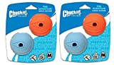 4 Pack Chuckit! The Whistler Size Medium / 2.5 Inch (2 Packages with 2 Balls Each)