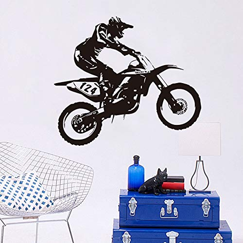 Tianpengyuanshuai Motocross persoonlijkheid huisdecoratie sticker van PVC racefiets motorfiets sticker muursticker slaapkamer voor kinderen