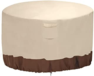 Vailge Fire Pit Cover,100% Waterproof Round Patio Fire Bowl Cover,Outdoor Heavy Duty Gas Firepit Table Covers with Air Ven...