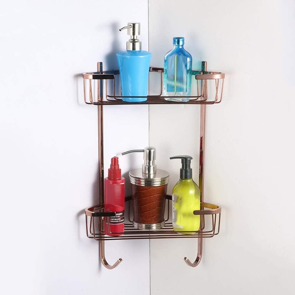 Save security money LCUY Bathroom Shelf Racks Rose Retro Gol
