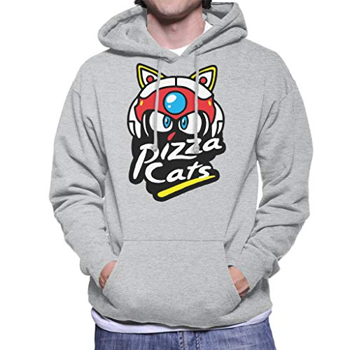 Cloud City 7 Samurai Pizza Cats Pizza Hut Logo Men's Hooded Sweatshirt