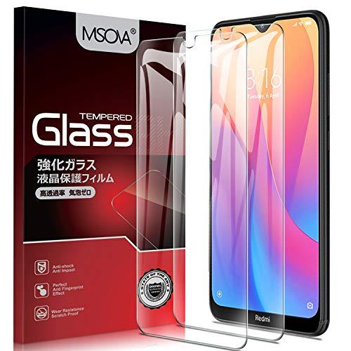 MSOVA Vetro Temperato per Xiaomi Redmi 8A/Xiaomi Redmi 8 Pellicola, [Durezza 9H][Alta Trasparente] [Nessuna Bolla] Protezione Schermo Adatto per Xiaomi Redmi 8A/Xiaomi Redmi 8 (2 Pezzi)