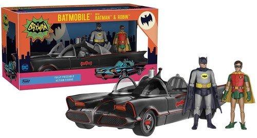 Funko DC Heroes 1966 Batmobile Vehicle with Batman and Robin Action Figure