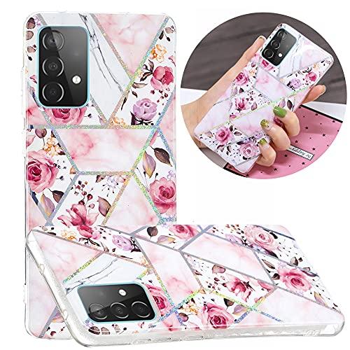 Hongjian Funda para Samsung Galaxy A52 SM-A525F/DS, SM-A525M/DS Plating TPU Soft Case Cover 7