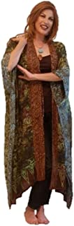 LOTUSTRADERS Kimono Jacket Vertical Patch Knee Length Bali Batik Gauzy K852