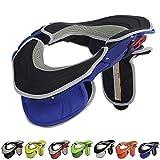 TZTED Collarin Proteccion Cuello Offroad Karting Enduro Protector Guardia Off-Road Cuerpo Protección Engranajes para Adultos Motocicleta Ciclismo Antifatiga,Azul