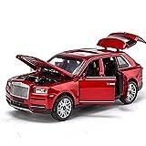 YZSM Modelo Coche Diecast Escala 1:32 para Rolls Royce para Cullinan Aleación Diecast Coches Modelo Luz Sonido Pull Back Boy Toy Modelo Auto (Color : Red with Box)