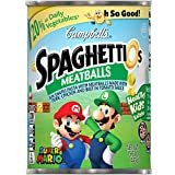 Campbell's SpaghettiOs Canned Pasta, Super Mario Bros.Shaped Pasta with Meatballs, 15.6 oz.Can (pack of 12)