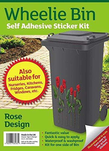 Rowan Kit stickers pour poubelle à roulettes Motif Roses