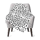 Baby Blanket for Kids Super Soft Blanket Fleece, Toddler Blanket with Dalmatian Spot Dots 30 x 40 Inch(75x100cm)