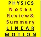 i Need Physics Review & Summary Chapter 1 Linear Motion (Physics Chapter Review & Summary) (English Edition)