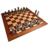 Hayes Inlaid Maple, Mahogany, and Sapele Wood Chess Board...