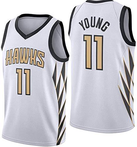 WSUN Camisetas NBA Trae Young 11# Atlanta Hawks - Camiseta De Baloncesto para Hombre NBA Camiseta Deportiva De Baloncesto Sin Mangas Transpirable De Ocio,XL(180~185CM/85~95KG)