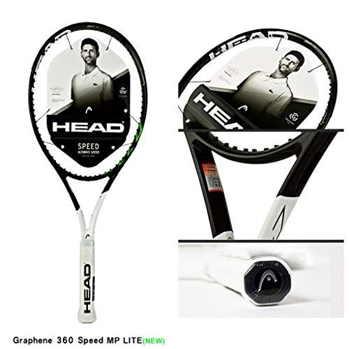 Chunjiao Raqueta de Tenis Fibra de Carbono de Carbono Total de la Raqueta Professional Todos Ronda Resistente a la Red (Color : White-b, Size : 27in)