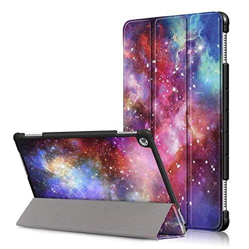 Housse Ultra Mince pour Huawei Mediapad M5 Lite 10 Housse magnétique en Cuir PU Intelligent pour Huawei Mediapad M5 Lite 10.1 BAH2-W19 / L09 / W09-Galaxie