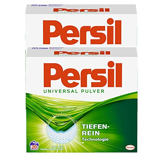 Persil Universal Vollwaschmittel, Doppelpack mit Tiefenrein Technologie, 40 (2x20) Waschladungen
