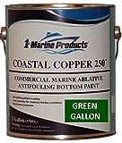 US Marine Products Green Gallon Coastal Copper 250 Ablative Antifouling Bottom Paint Green Gallon
