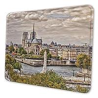 Notre Dame Cathedral マウスパッド ゲーミングマウスパット デスクマット キーボードパッド 滑り止め 高級感 耐久性が良い デスクマットメ キーボード パッド おしゃれ ゲーム用