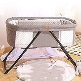 折りたたみ式ベビーベッドポータブルベビーベッドベビーベッド多機能ベビーベッド新生児用ゆりかごベッドベッド洗えるベビーベッドS星4ピースセットなしキルト+ホイール