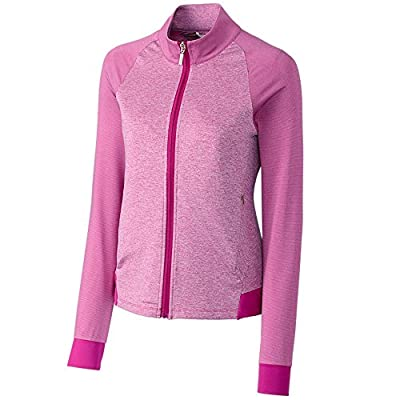 Cutter & Buck Women's Moisture Wicking, UPF 50+, Long-Sleeve Lena Full Zip Jacket, Flora, S
