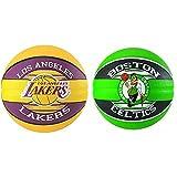 Spalding NBA Team L.A. Lakers 83-510Z Balón De Baloncesto, Multicolor, 7 + NBA Team Boston Celtics 83-505Z Balón De Baloncesto, Unisex, Multicolor