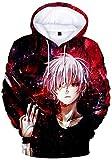 YOYOSHome Anime Tokyo Ghoul Cosplay Kaneki Ken sudadera con capucha chaqueta de traje suéter de vellón - - Medium