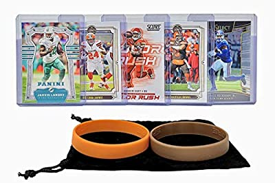 Cleveland Browns Cards: Odell Beckham, Baker Mayfield, Nick Chubb, Jarvis Landry, Kareem Hunt ASSORTED Football Trading Card and Wristbands Bundle