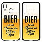 Handyhülle Bier für Huawei Silikon Hülle Saufen Vodka Alkohol Lustig Trinken Spruch Sprüche, Hüllendesign:Design 3   Silikon Schwarz, Kompatibel mit Handy:Huawei P20 Pro