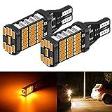 Gcsheng 2 unids P21W Luz de inversión trasera LED 1156 BA15S 7056 Bombillas LED Copia de seguridad Lámpara inversa Ajuste para VOLVO XC60 XC90 V70 S80 S40 S60 V60 C30 V50 ( Emitting Color : T15 W16W )