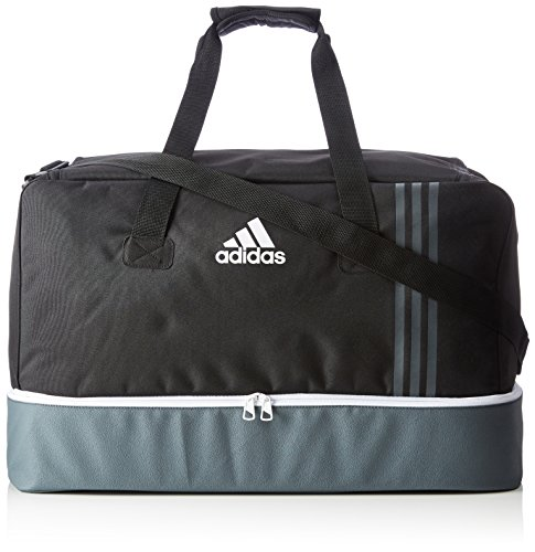 adidas Tiro Team Sporttasche B46124, Mehrfarbig (Black/Dark Grey/White), 27 x 46 x 28 cm (Small)