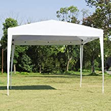 Easyzon Pop Up Patio EZ Canopy Tent Heavy Duty Gazebo Pavilion Outdoor Party Commercial Instant Tents Impact Canopies Without Sidewalls,10 x 10 FT (White)