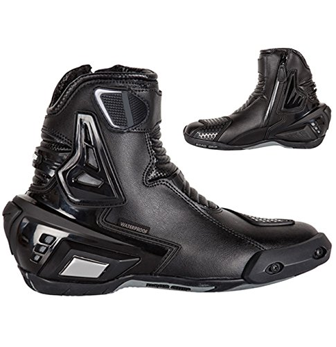 Mid length leather Motorcycle Riding boots/Race Boots/sports bike boots