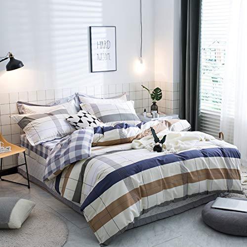 Teyun. Vier Sätze von Bett Bettwäsche aus Reiner Baumwolle Hochwertiger High-Density-Brushed Bettwäsche Pillowcase (Color : Multicolor4, Size : 220 * 240CM)